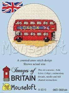 Mouseloft London Bus Images of Britain cross stitch kit
